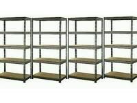 2000 Kg Heavy Duty 5 Tier 4 bays Metal Storage Garage Shelving Racking,boltless (New)07956873455