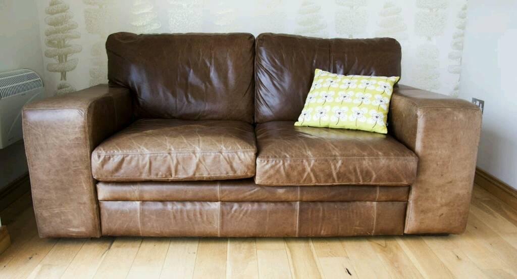 Aniline Leather Halo Sofa