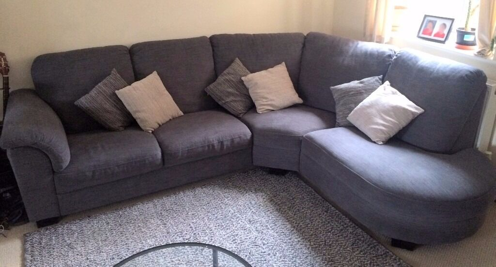 Corner Sofa Ikea Tidafors Hensta Grey Nearly New Super Comfy
