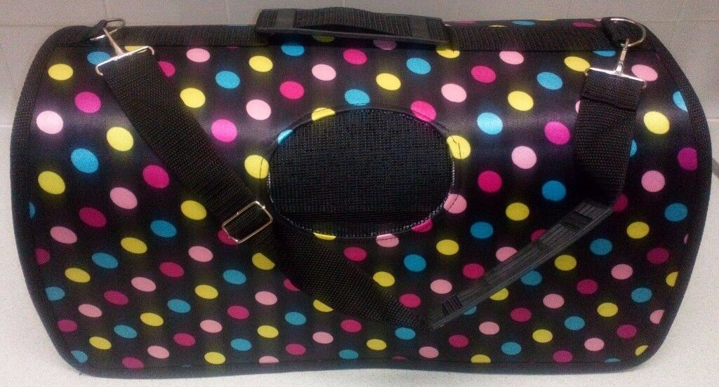 Lizimandu Pet Travel Carrier Portable Comfort Bag for Small Dogs, Cats and Puppies POLKA DOTS