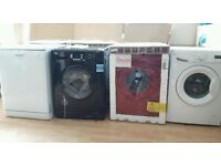 Swan Black or Red Washing Machines 1200 Spin 6kg 7kg and 8kg