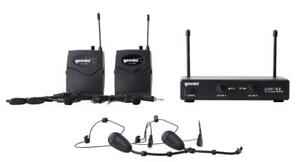 Gemini UHF-02HL Two Channel Headset / Lavalier Wireless Microphone System