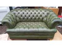 Lovely Chesterfield 2 seater Sofa in classy antique green
