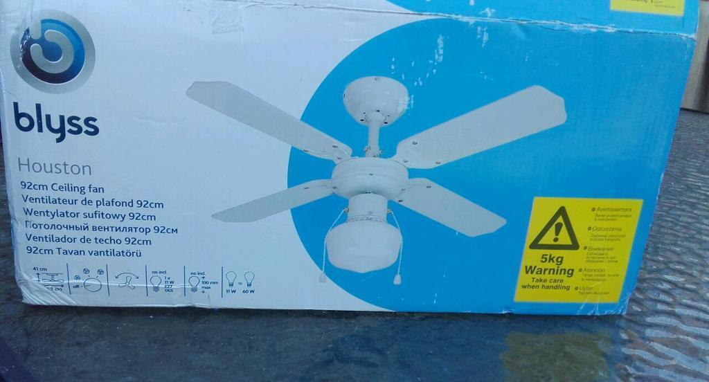 Blyss Houston 92cm Ceiling Fan New In Box