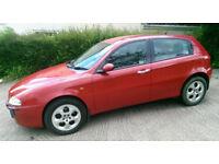 Alfa Romeo 147, 2002 (51) Red Hatchback, Semi Auto Petrol, 86,700 miles in Exeter