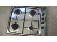 HARDLY USED STAINLESS STEEL GAS HOB BY HOTPOINT