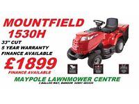 """New Mountfield 1530H 33"""" Cut Ride On Lawnmower"""