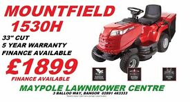 NEW Mountfield 1530H Ride On **SALE - £200 OFF RRP** 33 Inch Lawnmower