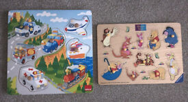 Two wooden puzzles (good condition)