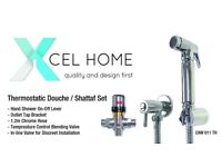Xcel Home Chrome Thermostatic Shataf Bidet Douche Set Shower Head Toilet Spray Head Brass - £33 each