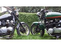 Swap two kawasaki KZ 750s for Harley Davidson