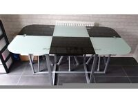 Retro cafe style table and 6 chairs