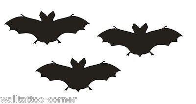 Halloween Auto Dekorationen (3x FLEDERMAUS - 8 cm - Halloween - Bat - Vampir - Wandtattoo Autoaufkleber NEU)