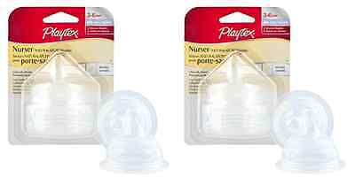 Playtex Drop-Ins NaturaLatch Silicone Nipple - Fast Flow - 2 Nipples (2 Pack)