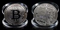 Moneda 1 Bitcoin Fisica 40mm 29gr Coleccionable Casascius Color Plata Silver Unc -  - ebay.es