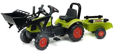 Ab 2 - 5 Jahre Claas Frontlader Kindertraktor mit Anhänger Tret Traktor Kinder