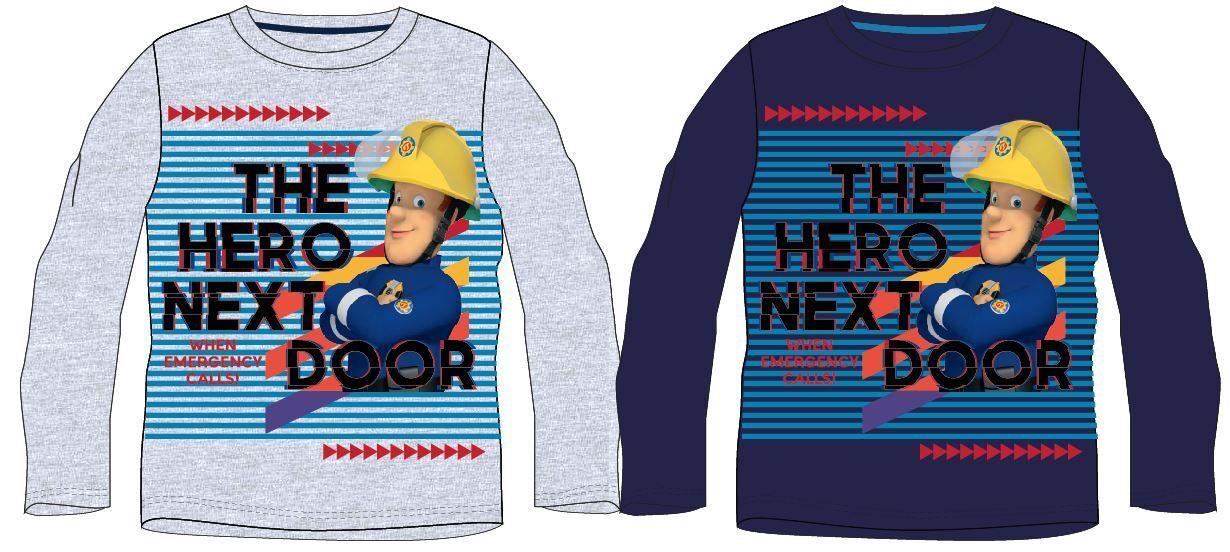Feuerwehrmann Sam Kinder Jungen Langarmshirt-Gr 98-128 T-Shirt Pullover neu!