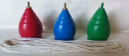 3 New Wooden Spinning Top Tops Toy Adult Kid Trompo Trompos with cord con cabuya