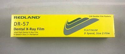 Vinyl Pack Dental X-ray Film Platinum D Speed Size 2 130 D-film Dr-57 Redland