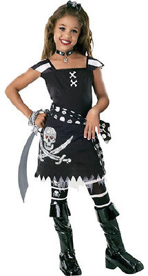 Scar-let Pirate Wench Caribbean Black Fancy Dress Up Halloween Child Costume