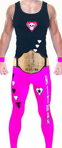 Wrestling Theme Bret Hart Style Mens Fancy Dress Costume Party Hitman WWF WWE