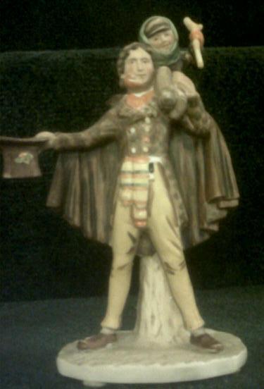 """Tiny Tim"" Norman Rockwell Porcelain Figurine 1974 Gorham--REDUCED"
