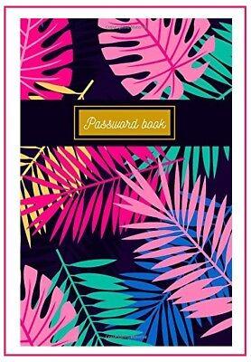 Pink Palm Password Book Large Print Keeper Website Log Journal Logbook Organizer