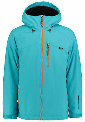 O'NEILL EXILE SKI / BOARD JACKET MENS XL CYAN BLUE THINSULATE 10K / 10K USED