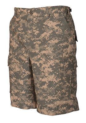 Digital Camo Cargo Short (Army Digital Camo Men's BDU Cargo Shorts / 100% Cotton / TRU SPEC 4210 )