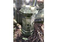 Antique hexagonal pillar chimney pot garden