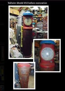 ⛽Rare Vintage Tokheim 850 clockface gas pump⛽