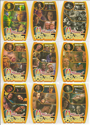 Star Trek Women Of Voyager HoloFEX MorFex Chase Card Set M1-M9
