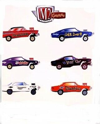 PRE-ORDER M2 Machines 1:64 Gassers - RELEASE 51 set of 6 please read listing