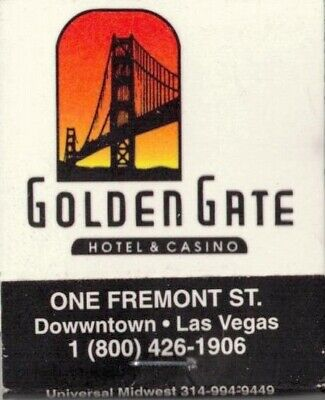 GOLDEN GATE-HOTEL & CASINO-LAS VEGAS,NEVADA- MATCHBOOK-ONE 1/2 INCHES WIDTH-FULL
