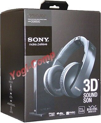 Sony Mdr-ds6500 Mdrds6500 3d 7.1 Digital Stereo Sound Headphones