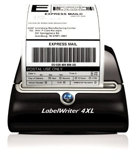 4 Rolls 220 Thermal Shipping Labels 4x6 Compatible 1744907 Dymo 4XL LabelWriter