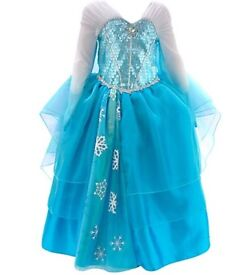 Elsa From Frozen Deluxe Costume Dress For Kids age 3-4