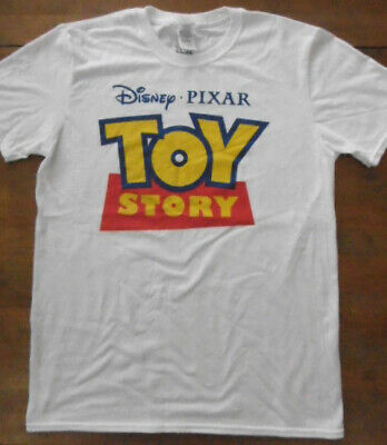 "Toy Story Unisex White T-Shirt Size Medium (NEW) 38"" Chest."