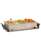 Bella Stainless Steel Triple Buffet Server & Warming Tray