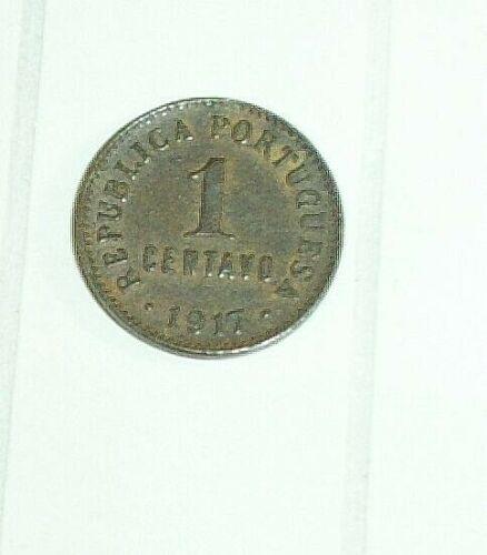 REPUBLICA PORTUGUESA 1 CENTAVO 1917 COIN COLLECTIBLE