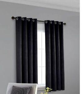 Room darkening thermal curtains