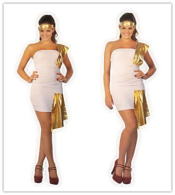 Halloween Gift Womens Lingerie GREEK SPARTAN Godess Fancy Dress Costume S - Greek Godess Dress