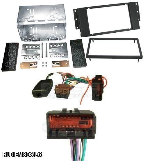 car stereo double din kit and stalk adaptor to fit lr. Black Bedroom Furniture Sets. Home Design Ideas