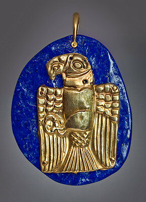 Ancient Graeco - Scythian Gold Eagle Pendant