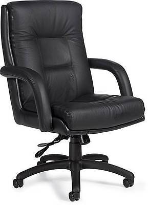 Lot of 8 Global Arturo 3992 High-Back Leather Office Chairs
