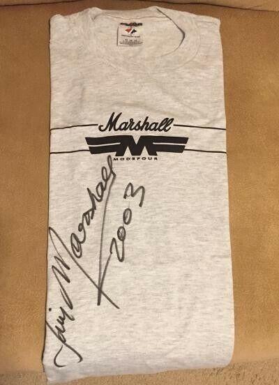 Jim Marshall Autographed Marshall Amp Signed T-Shirt 2003 - Brand NEW