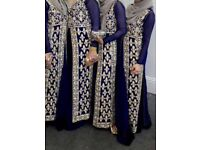 Beautiful Royal Blue brides maid dresses with diamond sequences