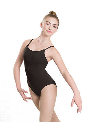 Revolution Dancewear Black Seamless Adjustable Strap Leotard Adult Child Sizes