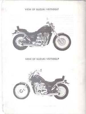 SUZUKI VS750 GLF & VS750 GLP ORIGINAL 1985 FACTORY SERVICE MANUAL
