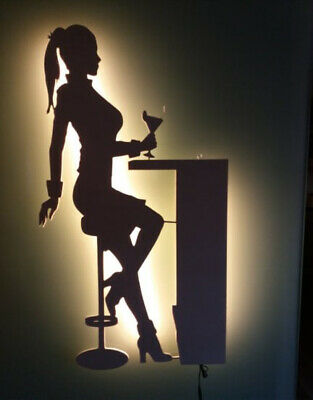 LED Wandbild Dekoration Table Dance Sulptur Akt Figur no Neonreklame Neon sign ()
